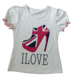 Modo Girl T-Shirt in Children Clothes con Print Sgt-070