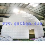 Tente gonflable de PVC de double zone blanche/tente gonflable bulle d'arc
