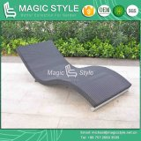 Daybed палубы Stackable Daybed патио Lounger пляжа салона отдыха Lounger ротанга Wicker напольный (волшебный тип)