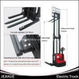 건전지 Charger 1000kg Wide Leg Electric Stacker (Straddle Leg Stacker)