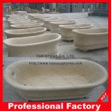 Vasca da bagno dell'interno di pietra di marmo bianca indipendente
