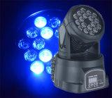 Pequeña luz principal móvil de la etapa del LED 18PCS