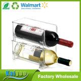 Supporto di bottiglia accatastabile del vino del risparmiatore dello spazio di stabilità e di sicurezza della famiglia