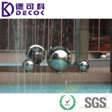 Bola de acero inoxidable cepillada decorativa de la esfera 304