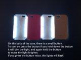iPhone5S/I6/6plusのための白いLEDライトが付いている電話箱