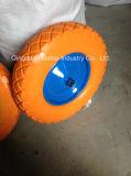 Sunstar 상표 Handtruck를 위한 고무 편평한 자유로운 PU 거품 바퀴