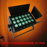 Luz do estroboscópio do diodo emissor de luz do controle 18X18W Rgbawuv 6in1 do som