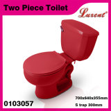 Carte de travail en deux pièces affleurante de Singgle de vente de Colourfull de poterie de salle de bains de toilette de traitement entier de côté