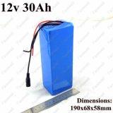 Batterie 12V 30ah Batterie rechargeable 12V Li-ion pour outil électrique 250W Batterie sans fil portable Xenon Lampe 12V Batterie CCTV