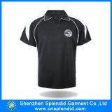 Personalizzare la camicia di polo nera del Mens di alta qualità (poliestere 100%)