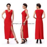 Notte rossa di modo che anche usura Sleeveless delle signore del vestito lungo sexy