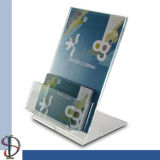 Support de menu avec la boîte de cartes de visite professionnelle de visite