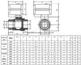 Valvola a sfera motorizzata ottone di controllo di modo della fabbrica 2 per il sistema di controllo dell'acqua