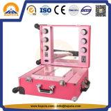 Aluminiumstudio-kosmetischer Fall mit LED-Licht (HB-6501)