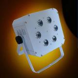 Batteriebetriebene 6X18W Rgabwuv DJ positionieren LED-Beleuchtung