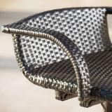 Cor Jardim Pátio Rattan mobiliário de exterior tamboretes de barra (FS-WBS001 branco)