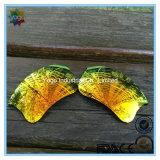 Lentes em linha da cor do espelho para óculos de sol da forma dos vidros de segurança dos óculos de sol