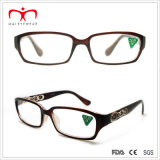 Signore Plastic Reading Glasses con Diamond Decoration e laser (WRP507283)
