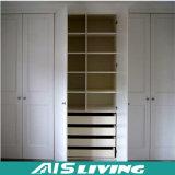Armário branco do Wardrobe da madeira contínua do lustro elevado luxuoso (AIS-W68)