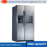 Refrigerador side-by-side do anúncio publicitário com Icemaker/barra distribuidor da água/água
