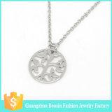 De hete Halsband van de Juwelen van de Tegenhanger van Hamsa van het Bergkristal van de Verkoop Godsdienstige Zilveren Geplateerde