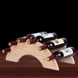 Rek van de Wijn van de Houder van de Opslag van de Vertoning van de wijn het Houten