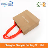 Kraft Paper Bags con Red Ribbon Packaging Bags