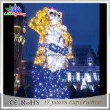 Luzes profissionais novas da escultura da luz da decoração do Natal do diodo emissor de luz 3D da luz do feriado