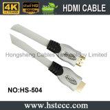 câble à grande vitesse de l'interpréteur de commandes interactif plaqué par or HDMI en métal 24k