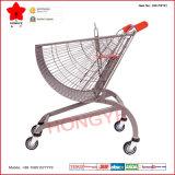 Nouveau chariot en forme d'hélice conçu de chariot à achats de supermarché (OW-FST01)