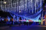 Luz da cortina da corda do diodo emissor de luz da decoração da árvore de Natal