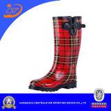 Красные черные ботинки дождя SSD-Lb11 повелительницы Способа проверки