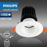 CE DEL Downlight, DEL Modular Downlight, CREE COB, Philips Driver de 15W TUV SAA