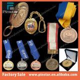Alibaba 중국 공장 인기 상품 방아끈을%s 가진 주문 로고 공백 스포츠 메달 금 또는 은 또는 청동 색깔