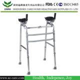 Caminhante de dobramento de alumínio com assento