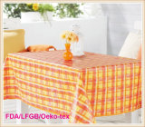 Pvc Printed Tablecloth met Flannel Backing (TJ0099)