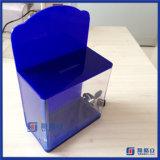Caixa pequena resistente da doação/cédula com fechamento
