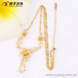 Heißestes Xuping Fashion Jewelry 18k Gold-Plated Flower Women Necklace in Environmental Copper Alloy 42714
