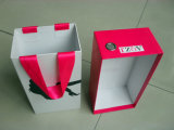 Handmade Shoes Box Packing com Clear Window and Bag accessory