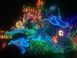 크리스마스 나무 훈장 LED 끈 커튼 빛
