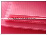 Розовые белые лист/доска желтого цвета 4mm-12mm толщиной гофрированные пластичные для упаковочного материала