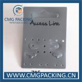 Hohe Verkaufs-weiße Plastikhaken-Schmucksache-Ohrring-Bildschirmanzeige-Karte (CMG-106)