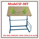 Tabela de desenho de ensino de madeira ajustável em madeira (SF-51)