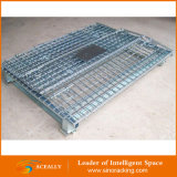 Гальванизированный хранением складной складной штабелируя контейнер паллета ячеистой сети