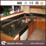 Granito di Vanitytops Verde Ubatuba della stanza da bagno con i doppi dispersori di ceramica