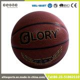 Поглощая баскетбол Microfiber прокатанный PU