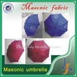 Kundenspezifischer blauer oder roter Freimaurerregenschirm