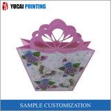 Розовая хозяйственная сумка подарка бумаги Цветк-Формы
