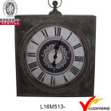 Reloj de pared francés antiguo redondo grande de la vendimia del metal