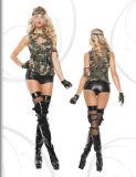 心をそそるセクシーな女性のCosplayの軍隊の衣裳
